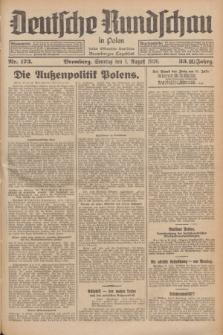 Deutsche Rundschau in Polen : früher Ostdeutsche Rundschau, Bromberger Tageblatt. Jg.33, Nr. 173 (1 August 1926) = Jg.50 + dod.