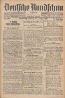 Deutsche Rundschau in Polen : früher Ostdeutsche Rundschau, Bromberger Tageblatt. Jg.33, Nr. 174 (3 August 1926) = Jg.50 + dod.