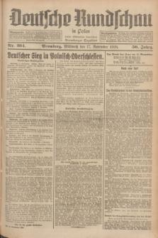 Deutsche Rundschau in Polen : früher Ostdeutsche Rundschau, Bromberger Tageblatt. Jg.50, Nr. 264 (17 November 1926) + dod.