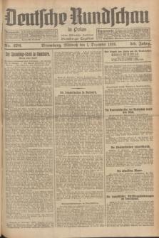 Deutsche Rundschau in Polen : früher Ostdeutsche Rundschau, Bromberger Tageblatt. Jg.50, Nr. 276 (1 Dezember 1926) + dod.