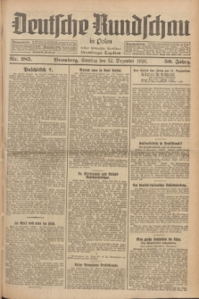 Deutsche Rundschau in Polen : früher Ostdeutsche Rundschau, Bromberger Tageblatt. Jg.50, Nr. 285 (12 Dezember 1926) + dod.