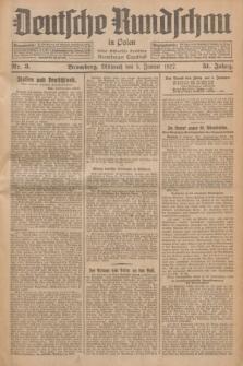 Deutsche Rundschau in Polen : früher Ostdeutsche Rundschau, Bromberger Tageblatt. Jg.51, Nr. 3 (5 Januar 1927) + dod.