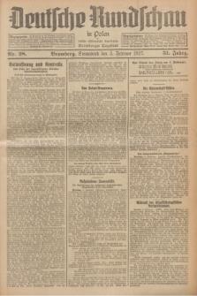 Deutsche Rundschau in Polen : früher Ostdeutsche Rundschau, Bromberger Tageblatt. Jg.51, Nr. 28 (5 Februar 1927) + dod.