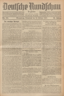 Deutsche Rundschau in Polen : früher Ostdeutsche Rundschau, Bromberger Tageblatt. Jg.51, Nr. 34 (12 Februar 1927) + dod.