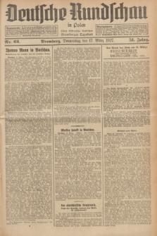 Deutsche Rundschau in Polen : früher Ostdeutsche Rundschau, Bromberger Tageblatt. Jg.51, Nr. 62 (17 März 1927) + dod.