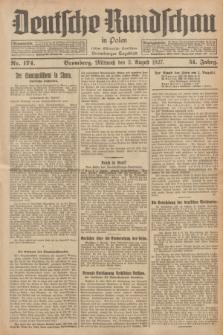 Deutsche Rundschau in Polen : früher Ostdeutsche Rundschau, Bromberger Tageblatt. Jg.51, Nr. 174 (3 August 1927) + dod.