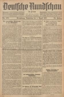 Deutsche Rundschau in Polen : früher Ostdeutsche Rundschau, Bromberger Tageblatt. Jg.51, Nr. 175 (4 August 1927) + dod.