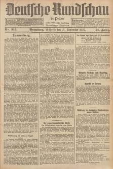 Deutsche Rundschau in Polen : früher Ostdeutsche Rundschau, Bromberger Tageblatt. Jg.51, Nr. 215 (21 September 1927) + dod.