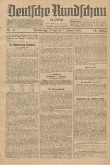 Deutsche Rundschau in Polen : früher Ostdeutsche Rundschau, Bromberger Tageblatt. Jg.52, Nr. 5 (6 Januar 1928) + dod.