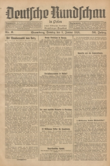 Deutsche Rundschau in Polen : früher Ostdeutsche Rundschau, Bromberger Tageblatt. Jg.52, Nr. 6 (8 Januar 1928) + dod.