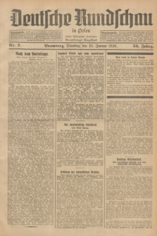 Deutsche Rundschau in Polen : früher Ostdeutsche Rundschau, Bromberger Tageblatt. Jg.52, Nr. 7 (10 Januar 1928) + dod.