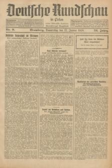 Deutsche Rundschau in Polen : früher Ostdeutsche Rundschau, Bromberger Tageblatt. Jg.52, Nr. 9 (12 Januar 1928) + dod.