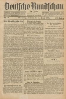 Deutsche Rundschau in Polen : früher Ostdeutsche Rundschau, Bromberger Tageblatt. Jg.52, Nr. 11 (14 Januar 1928) + dod.