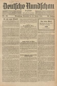 Deutsche Rundschau in Polen : früher Ostdeutsche Rundschau, Bromberger Tageblatt. Jg.52, Nr. 23 (28 Januar 1928) + dod.