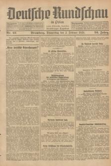 Deutsche Rundschau in Polen : früher Ostdeutsche Rundschau, Bromberger Tageblatt. Jg.52, Nr. 27 (2 Februar 1928) + dod.