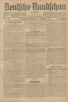Deutsche Rundschau in Polen : früher Ostdeutsche Rundschau, Bromberger Tageblatt. Jg.52, Nr. 29 (5 Februar 1928) + dod.