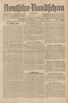 Deutsche Rundschau in Polen : früher Ostdeutsche Rundschau, Bromberger Tageblatt. Jg.52, Nr. 31 (8 Februar 1928) + dod.