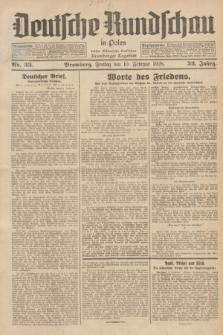 Deutsche Rundschau in Polen : früher Ostdeutsche Rundschau, Bromberger Tageblatt. Jg.52, Nr. 33 (10 Februar 1928) + dod.