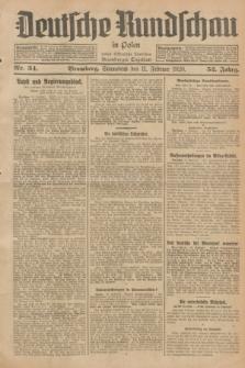 Deutsche Rundschau in Polen : früher Ostdeutsche Rundschau, Bromberger Tageblatt. Jg.52, Nr. 34 (11 Februar 1928) + dod.