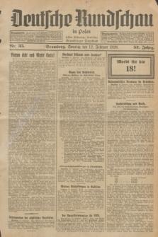 Deutsche Rundschau in Polen : früher Ostdeutsche Rundschau, Bromberger Tageblatt. Jg.52, Nr. 35 (12 Februar 1928) + dod.