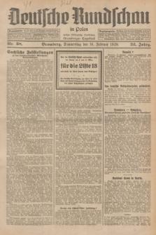 Deutsche Rundschau in Polen : früher Ostdeutsche Rundschau, Bromberger Tageblatt. Jg.52, Nr. 38 (16 Februar 1928) + dod.