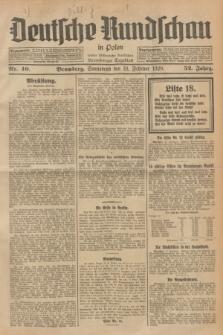 Deutsche Rundschau in Polen : früher Ostdeutsche Rundschau, Bromberger Tageblatt. Jg.52, Nr. 40 (18 Februar 1928) + dod.