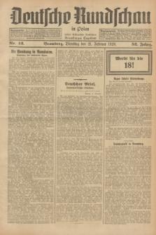 Deutsche Rundschau in Polen : früher Ostdeutsche Rundschau, Bromberger Tageblatt. Jg.52, Nr. 42 (21 Februar 1928) + dod.