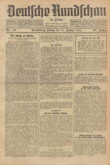 Deutsche Rundschau in Polen : früher Ostdeutsche Rundschau, Bromberger Tageblatt. Jg.52, Nr. 45 (24 Februar 1928) + dod.