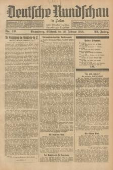 Deutsche Rundschau in Polen : früher Ostdeutsche Rundschau, Bromberger Tageblatt. Jg.52, Nr. 49 (29 Februar 1928) + dod.