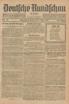 Deutsche Rundschau in Polen : früher Ostdeutsche Rundschau, Bromberger Tageblatt. Jg.52, Nr. 51 (2 März 1928) + dod.