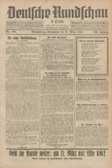Deutsche Rundschau in Polen : früher Ostdeutsche Rundschau, Bromberger Tageblatt. Jg.52, Nr. 58 (10 März 1928) + dod.