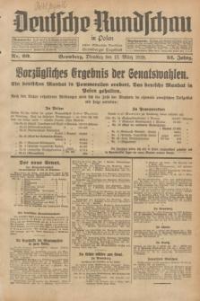 Deutsche Rundschau in Polen : früher Ostdeutsche Rundschau, Bromberger Tageblatt. Jg.52, Nr. 60 (13 März 1928) + dod.