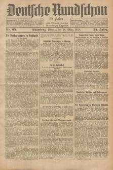 Deutsche Rundschau in Polen : früher Ostdeutsche Rundschau, Bromberger Tageblatt. Jg.52, Nr. 65 (18 März 1928) + dod.