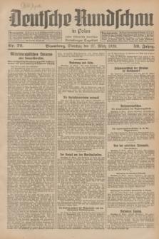 Deutsche Rundschau in Polen : früher Ostdeutsche Rundschau, Bromberger Tageblatt. Jg.52, Nr. 72 (27 März 1928) + dod.