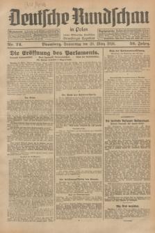 Deutsche Rundschau in Polen : früher Ostdeutsche Rundschau, Bromberger Tageblatt. Jg.52, Nr. 74 (29 März 1928) + dod.