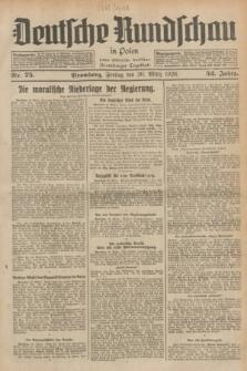 Deutsche Rundschau in Polen : früher Ostdeutsche Rundschau, Bromberger Tageblatt. Jg.52, Nr. 75 (30 März 1928) + dod.