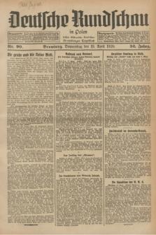 Deutsche Rundschau in Polen : früher Ostdeutsche Rundschau, Bromberger Tageblatt. Jg.52, Nr. 90 (19 April 1928) + dod.