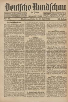 Deutsche Rundschau in Polen : früher Ostdeutsche Rundschau, Bromberger Tageblatt. Jg.52, Nr. 91 (20 April 1928) + dod.