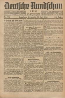 Deutsche Rundschau in Polen : früher Ostdeutsche Rundschau, Bromberger Tageblatt. Jg.52, Nr. 95 (25 April 1928) + dod.