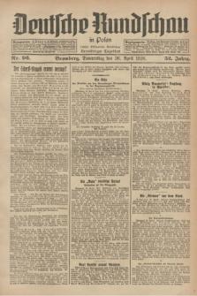 Deutsche Rundschau in Polen : früher Ostdeutsche Rundschau, Bromberger Tageblatt. Jg.52, Nr. 96 (26 April 1928) + dod.