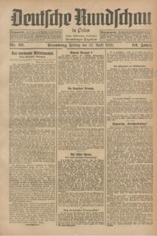 Deutsche Rundschau in Polen : früher Ostdeutsche Rundschau, Bromberger Tageblatt. Jg.52, Nr. 97 (27 April 1928) + dod.