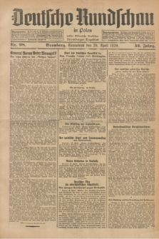 Deutsche Rundschau in Polen : früher Ostdeutsche Rundschau, Bromberger Tageblatt. Jg.52, Nr. 98 (28 April 1928) + dod.