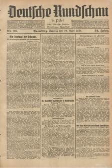 Deutsche Rundschau in Polen : früher Ostdeutsche Rundschau, Bromberger Tageblatt. Jg.52, Nr. 99 (29 April 1928) + dod.