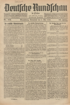 Deutsche Rundschau in Polen : früher Ostdeutsche Rundschau, Bromberger Tageblatt. Jg.52, Nr. 103 (5 Mai 1928) + dod.