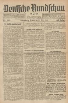 Deutsche Rundschau in Polen : früher Ostdeutsche Rundschau, Bromberger Tageblatt. Jg.52, Nr. 108 (11 Mai 1928) + dod.