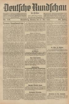 Deutsche Rundschau in Polen : früher Ostdeutsche Rundschau, Bromberger Tageblatt. Jg.52, Nr. 110 (13 Mai 1928) + dod.