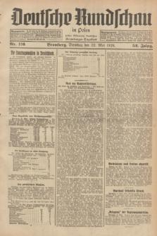 Deutsche Rundschau in Polen : früher Ostdeutsche Rundschau, Bromberger Tageblatt. Jg.52, Nr. 116 (22 Mai 1928) + dod.