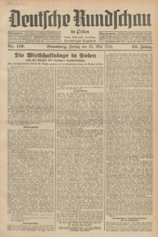 Deutsche Rundschau in Polen : früher Ostdeutsche Rundschau, Bromberger Tageblatt. Jg.52, Nr. 119 (25 Mai 1928) + dod.