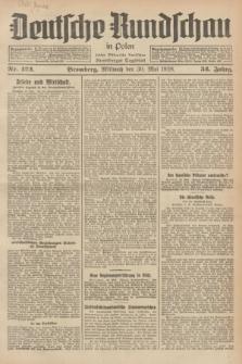 Deutsche Rundschau in Polen : früher Ostdeutsche Rundschau, Bromberger Tageblatt. Jg.52, Nr. 122 (30 Mai 1928) + dod.