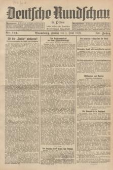 Deutsche Rundschau in Polen : früher Ostdeutsche Rundschau, Bromberger Tageblatt. Jg.52, Nr. 124 (1 Juni 1928) + dod.
